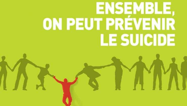 Afiş al asociaţiei pentru prevenirea sinuciderilor în Quebec