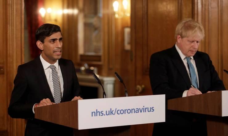Rishi Sunak și Boris Johnson