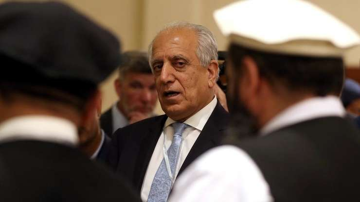 Principalul negociator american cu talibanii, Zalmay Khalilzad, pe data de 8 iulie 2019, la Doha.