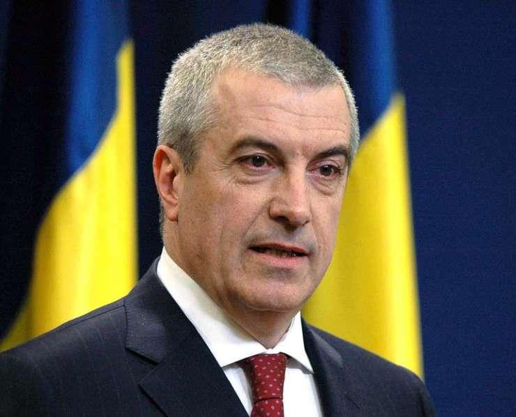 Şeful Senatului, co-preşedintele ALDE, Călin Popescu Tăriceanu