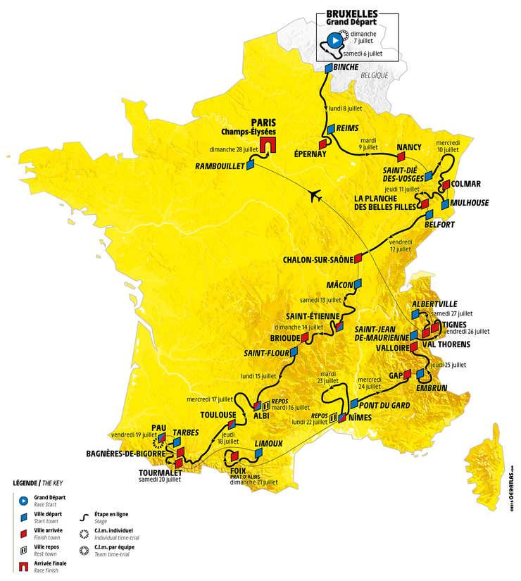 In 2019 Turul Franţei Va Urca Mult Pe Munţi Rfi Mobile