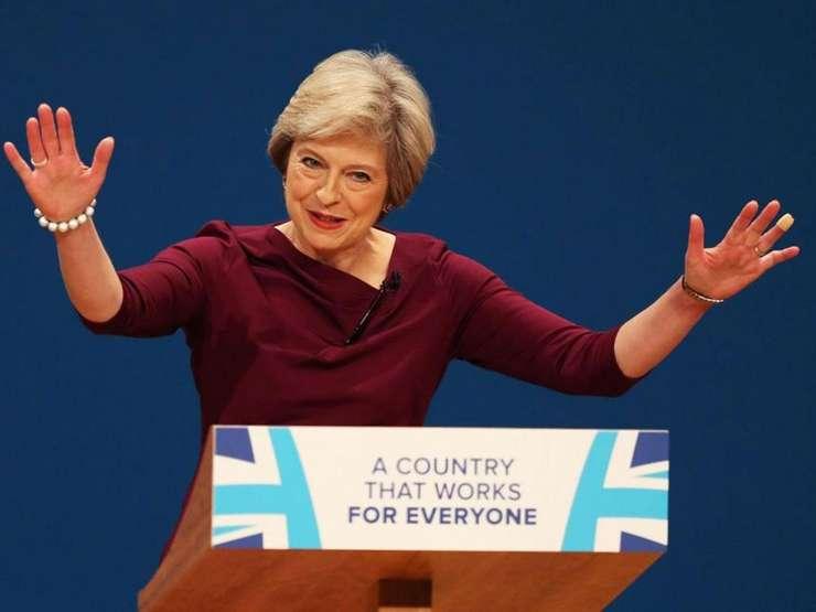 Theresa May la conferința Partidului Conservator