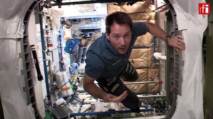 Thomas Pesquet la bordul Statiei Spatiale Internationale, mai 2021.