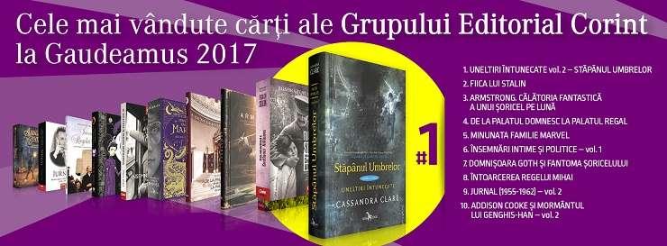 Top vânzări Editura Corint la Târgul Gaudeamus 2017
