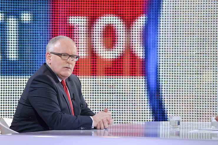Timmermans speră să îi succeadă în funcţie actualului preşedinte al Comisiei Europene