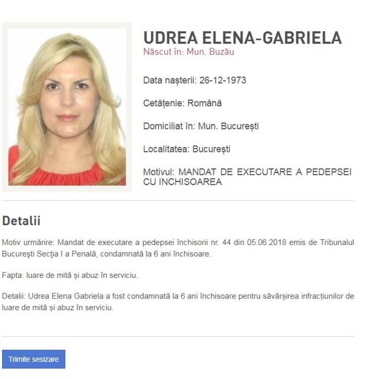 Elena Udrea se află în Costa Rica (Sursa foto: Poliţia Română)