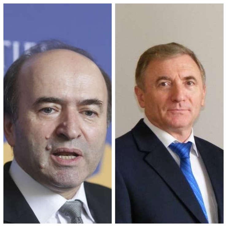 Ministrul Justiției, Tudorel Toader, și procurorul general Augustin Lazăr