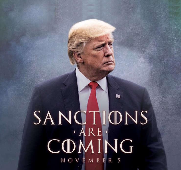Presedintele Statelor Unite, Donald Trump saluta în maniera proprie reintroducerea sanctiunilor la adresa Teheranului.