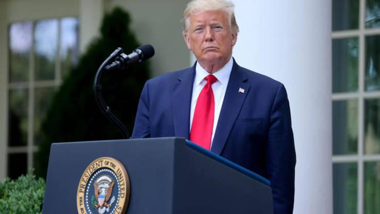 Presedintele SUA Donald Trump la Casa albà, 26 mai 2020