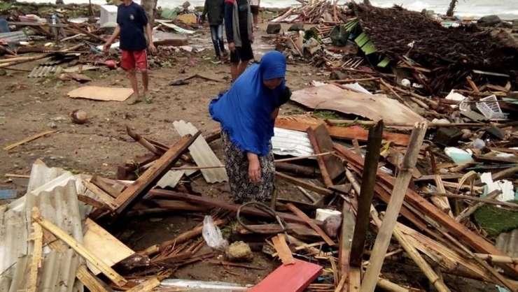 Case distruse de tsunami, în Indonezia (Foto: Semi/AFP)