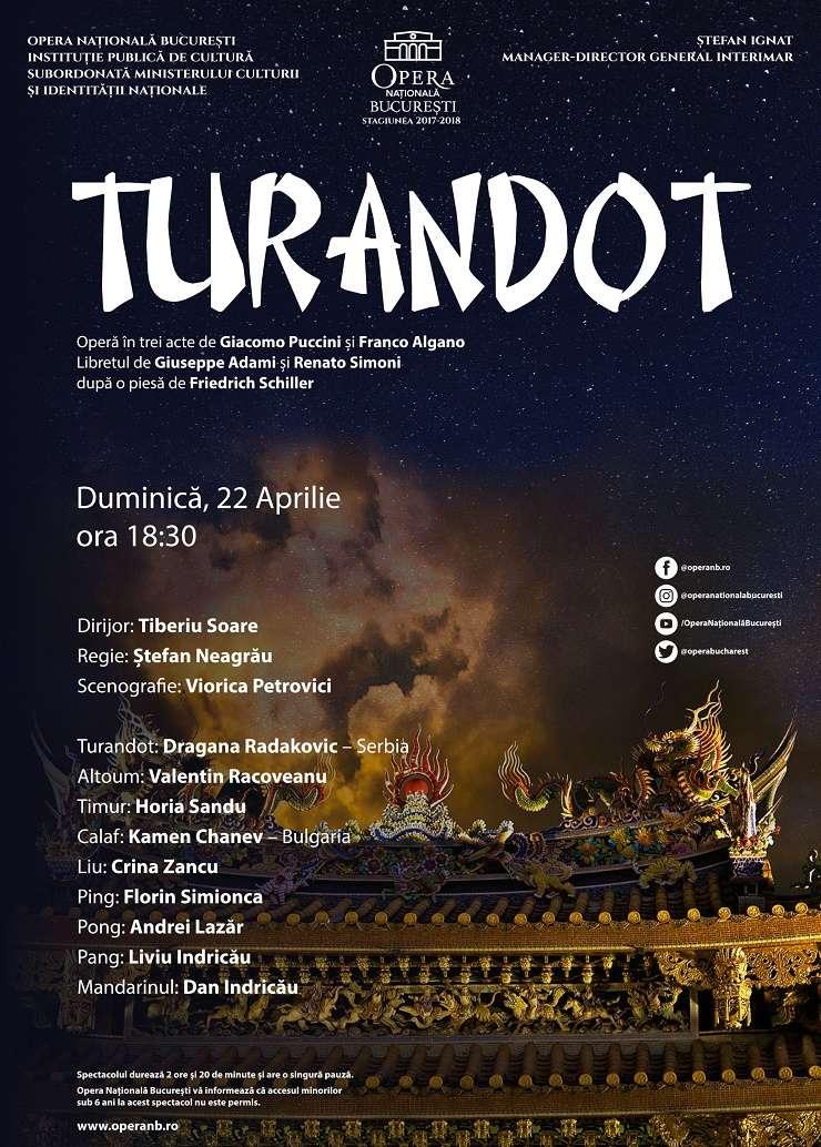 Afiș Turandot