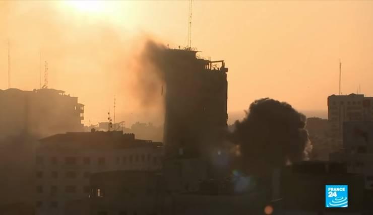 Conflictul israeliano-palestinian s-a reaprins (Sursa: captură video France24)