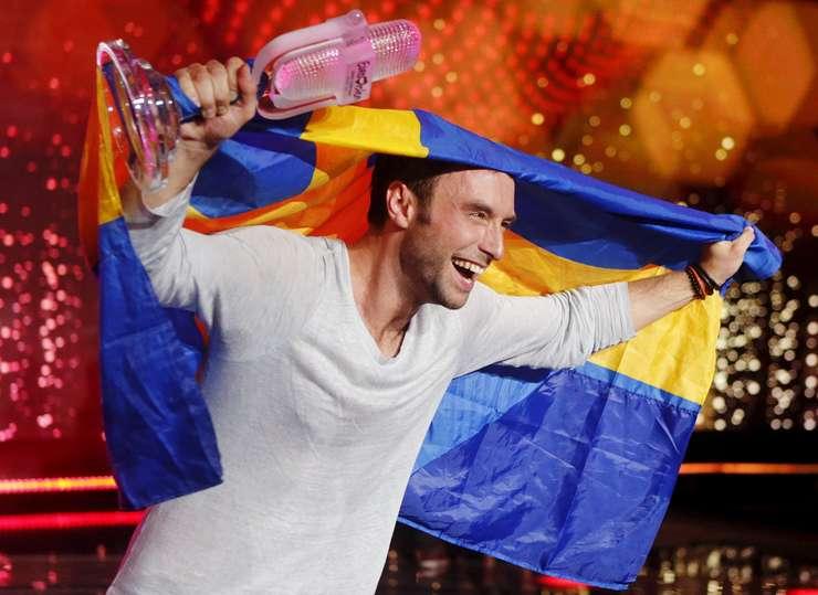Câştigătorul Eurovision 2015, concurentul Suediei, Måns Zelmerlöw (Foto: Reuters/Heinz-Peter Bader)