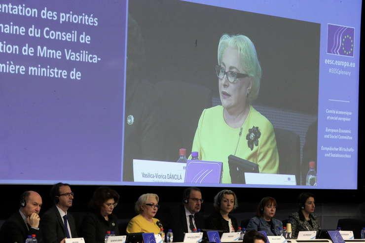 Premierul Viorica Dăncilă s-a aflat joi, 24 ianuarie la Bruxelles (Sursa foto: gov.ro)
