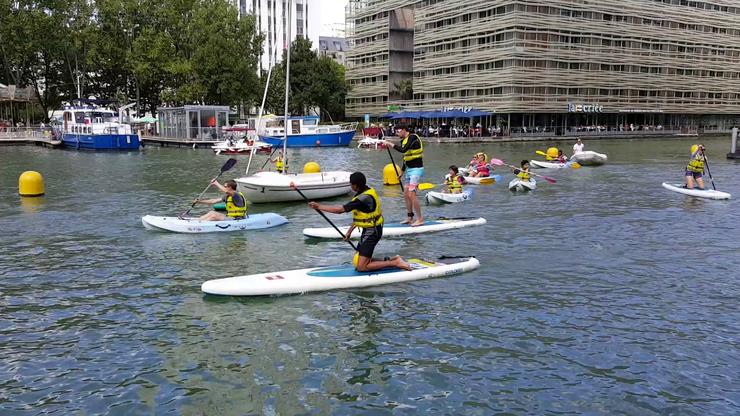 Paddling, caiac, canoe - sporturile nautice se pot practica la Paris pânà pe 3 septembrie