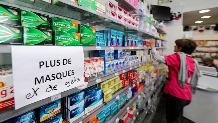Măşti de protecţie şi gel dezinfectant: ruptură de stoc într-o farmacie franceză, 4 martie 2020