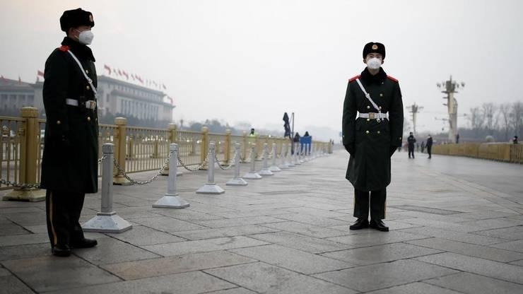 Piaţa Tiananmen în plină epidemie de coronavirus, 27 ianuarie 2020