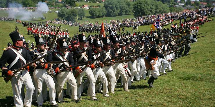 Reconstituirea bàtàliei de la Waterloo
