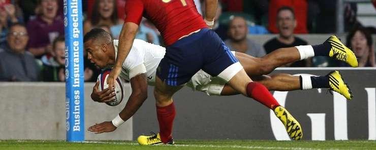Anthony Watson marchează un eseu în meciul cu Franța