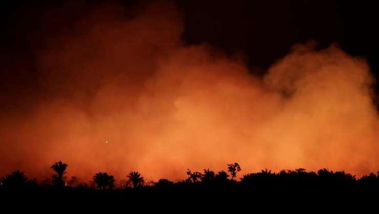 Incendii în apropiere de Humaita, statul Amazonas din Brazilia, 17 august 2019.