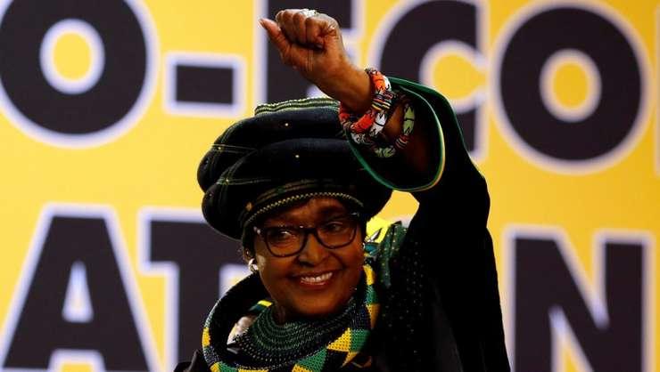 Winnie Mandela, în decembrie 2017, la Conferinta nationalà ANC de la Johannesburg