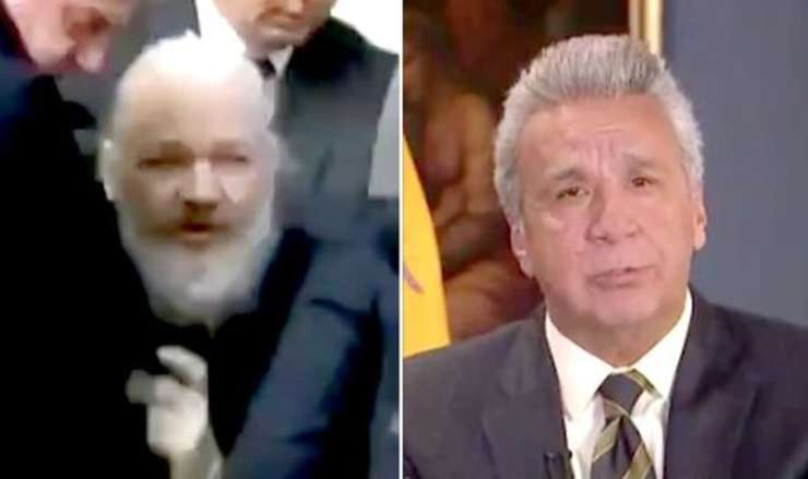 Julian Assange și Lenin Moreno