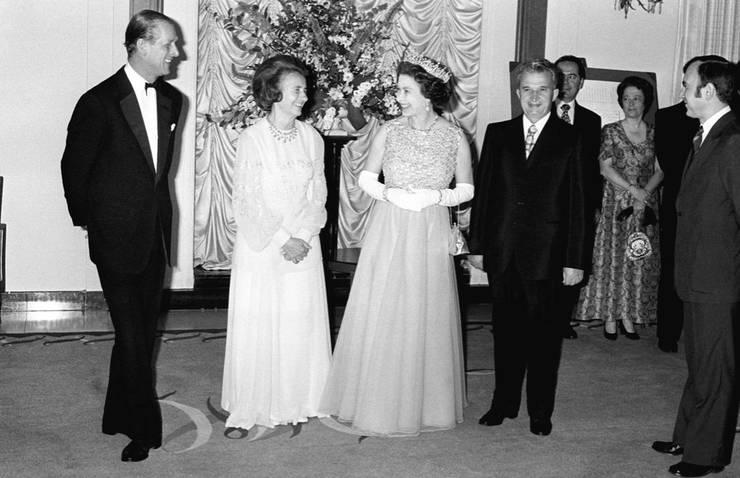 Regina Elisabeta a II-a, Prințul Philip, Nicolae Ceaușescu, Elena Ceaușescu