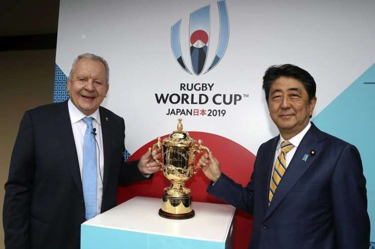 Bill Beaumont și Shinzo Abe