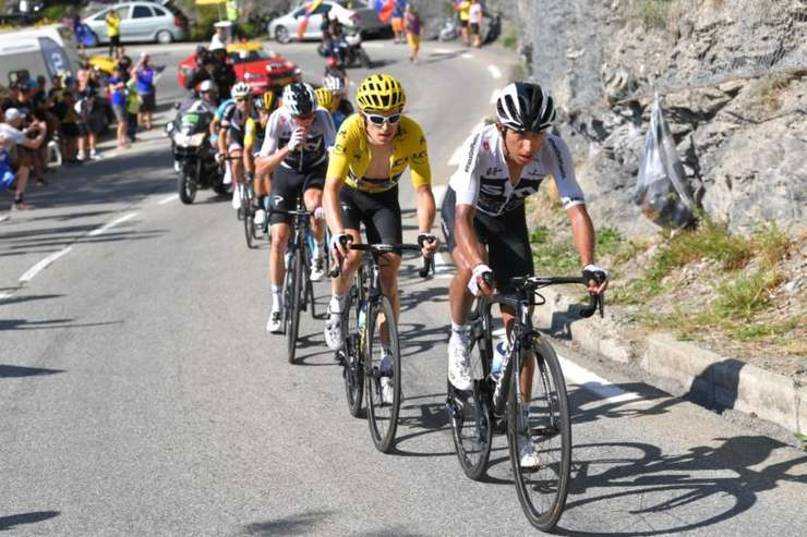 Egan Bernal, Geraint Thomas și Chris Froome
