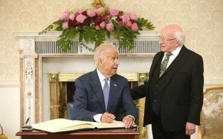 Jo Biden și Michael D Higgins