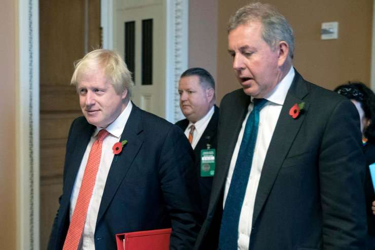 Boris Johnson și Kim Darroch