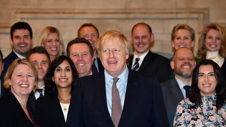 Boris Johnson cu noii deputați Conservatori aleși pe 12 decembrie