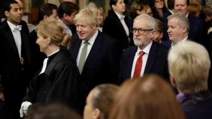 Boris Johnson și Jeremy Corbyn