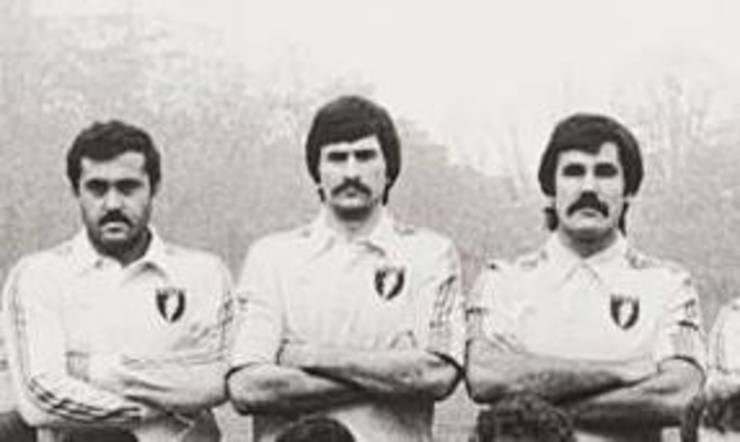 (de la stânga) Gheorghe Caragea, Ștefan Constantin, Gheorghe Dumitru