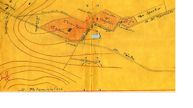 Cimitirele din Dorohoi pe hartă
