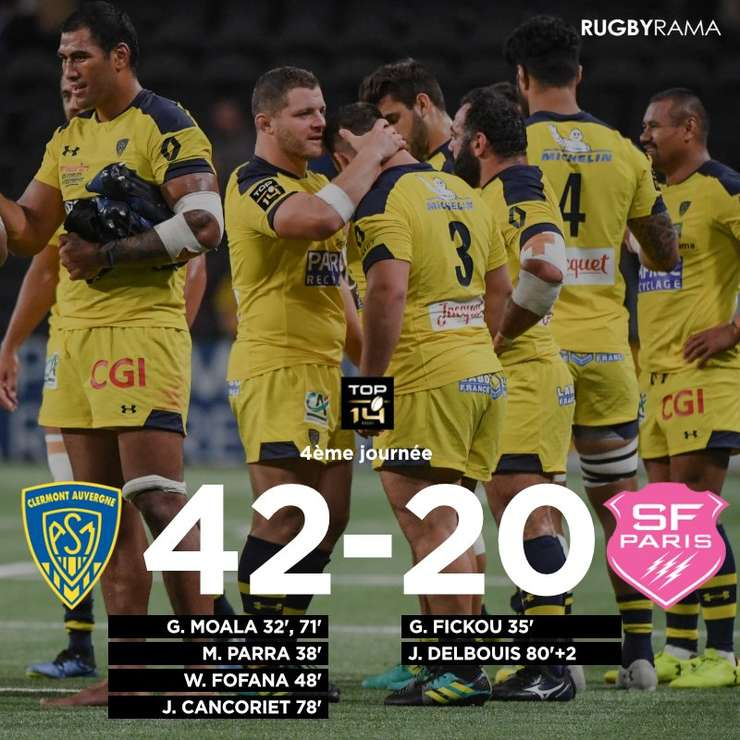 Clermont 42 Stade Francais 20
