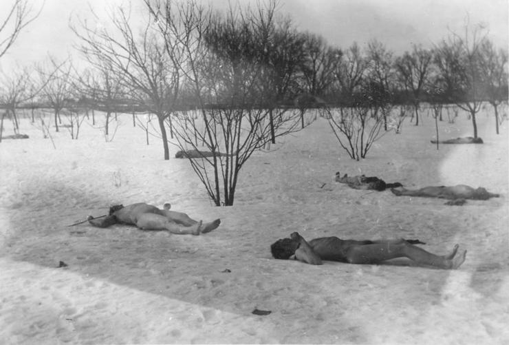 Cadavre de evrei la Jilava, ianuarie 1941