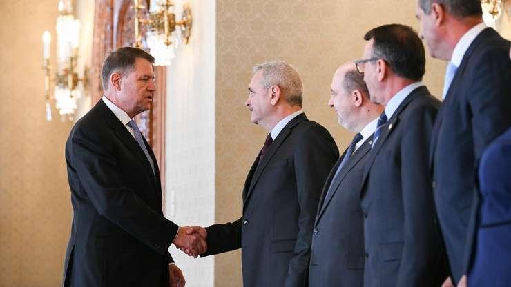 Preşedintele Klaus Iohannis primeşte la Cotroceni delegaţia PSD-ALDE (Foto: site Preşedinţie)