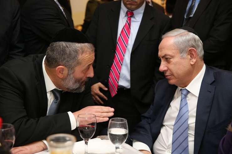 Arie Deri și Binyamin Netanyahu