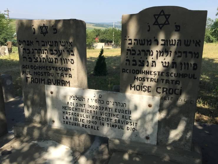 Morminte în cimitirul evreiesc Dorohoi