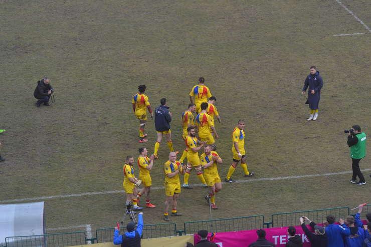 Stejarii la sfârșitul meciului cu Belgia