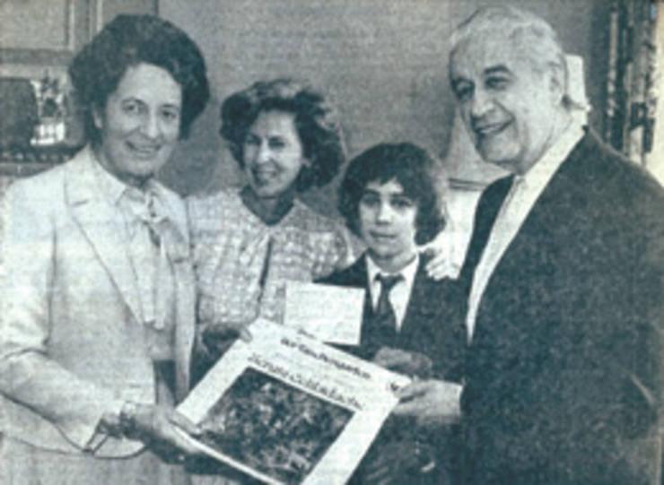 Familia Celibidache în 1980