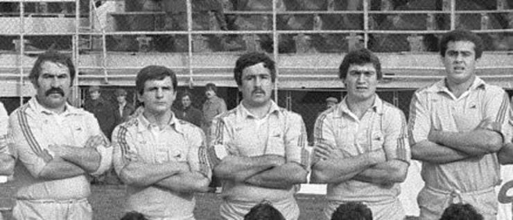 (de la stânga) Dinu, Munteanu, Bucan, Murariu, Caragea