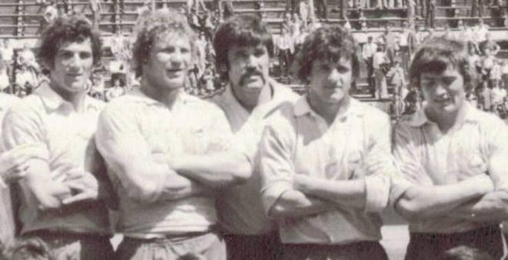 (de la stânga la dreapta) Ion Pintea, Marin Ionescu, Gheorghe Dumitru, Enciu Stoica și Florică Murariu