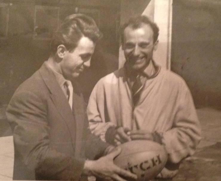Titi Ionescu (stânga) cu Aurel Barbu