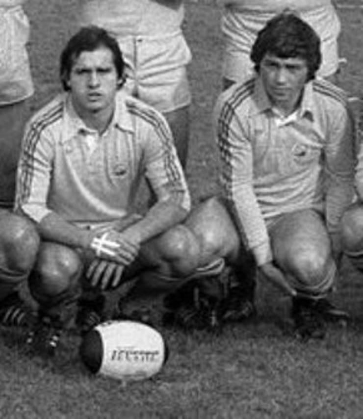Mircea Paraschiv (stânga) și Ion Constantin