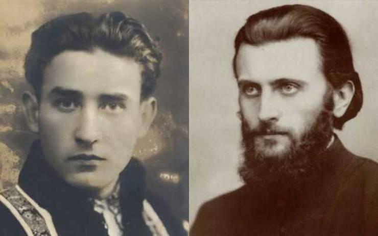 Valeriu Gafencu (stânga) și Arsenie Boca