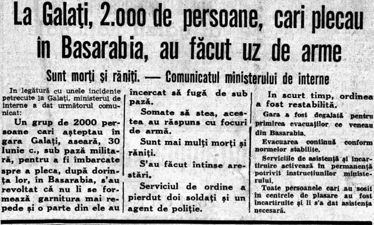 Articol din presă, 1940