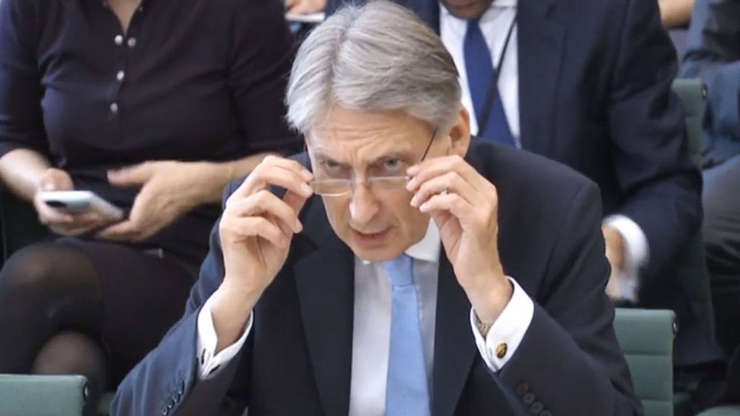 Philip Hammond în parlament
