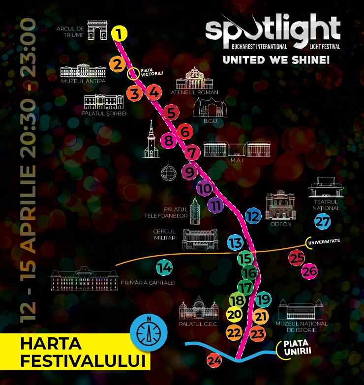 Harta și legenda Festivalului Spotlight 2018